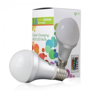 Lighting-EVER-Remote-Controlled-Color-Changing-A19-5W-LED-Light-Bulb-16-Color-Choice-E26-Medium-Screw-Base-0-0