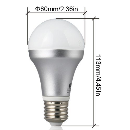 Lighting-EVER-Remote-Controlled-Color-Changing-A19-5W-LED-Light-Bulb-16-Color-Choice-E26-Medium-Screw-Base-0-3