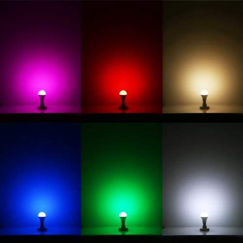 Lighting-EVER-Remote-Controlled-Color-Changing-A19-5W-LED-Light-Bulb-16-Color-Choice-E26-Medium-Screw-Base-0-4