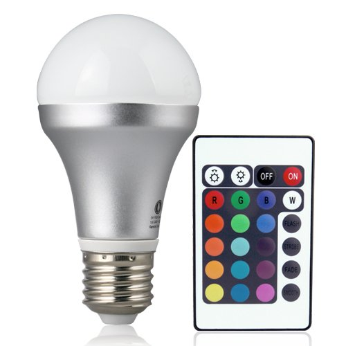 Lighting-EVER-Remote-Controlled-Color-Changing-A19-5W-LED-Light-Bulb-16-Color-Choice-E26-Medium-Screw-Base-0