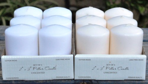 2-x-3-White-Pillar-Candles-Set-of-6-0