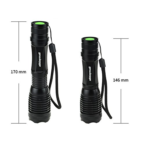 Alldaymall-600-Lumens-Zoomable-CREE-XM-L-T6-LED-Lamp-Flashlight5-Modes-Adjustable-Focus-Lighting-Lamp-Flashlight-Torch-118650-rechargeable-protected-Battery-118650-Wired-Single-Charger-Kit-0-0