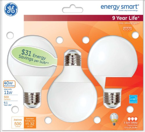GE-Lighting-85392-Energy-Smart-CFL-11-Watt-40-watt-replacement-500-Lumen-G25-Light-Bulb-with-Medium-Base-3-Pack-0-0