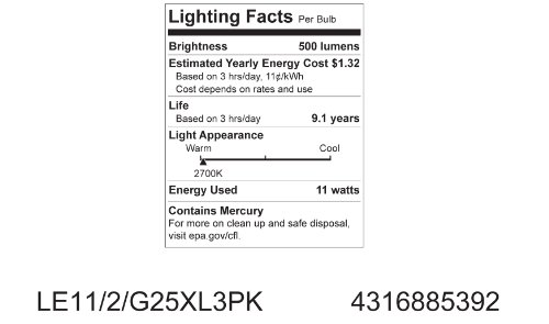 GE-Lighting-85392-Energy-Smart-CFL-11-Watt-40-watt-replacement-500-Lumen-G25-Light-Bulb-with-Medium-Base-3-Pack-0-2