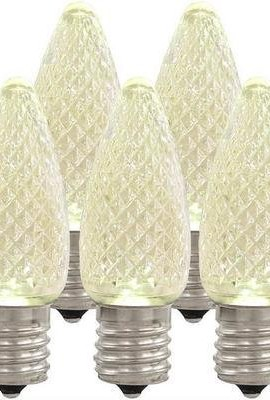Holiday-Lighting-Outlet-LED-C9-Sun-Warm-White-Replacement-Christmas-Light-Bulbs-Commercial-Grade-5-Diode-Leds-in-Each-Bulb-Fits-in-E17-Sockets-Pack-of-25-Bulbs-0