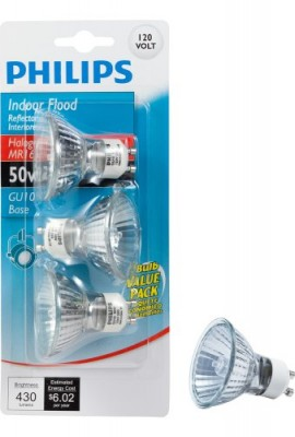 Philips-415794-Indoor-Flood-50-Watt-MR16-GU10-Base-120-Volt-Light-Bulb-3-Pack-0