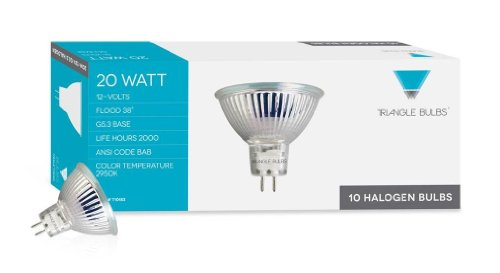 Triangle-Bulbs-10pcs-20W-MR16-BAB-Halogen-Flood-Light-Bulbs-12V-Warm-WhitePack-of-10-0