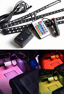 4pc-Multi-Color-7-Color-LED-Interior-Underdash-Lighting-Kit-With-Sound-Active-Function-and-Wireless-Remote-Control-0