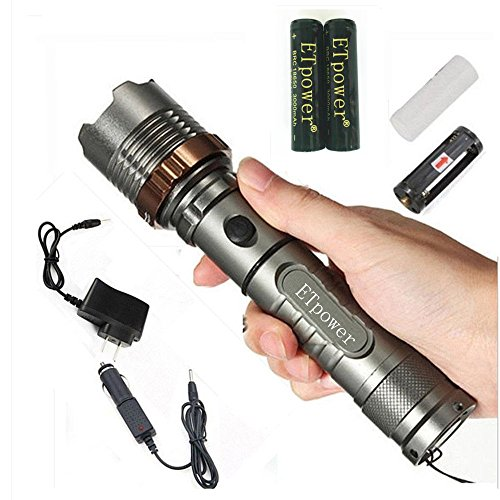 ETpower-1800LM-XM-L-T6-LED-Zoomable-Torch-Flashlight-Light-2-x-18650-Battery-1-x-Car-Charger1-x-AC-Charger-0