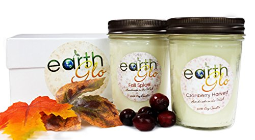 EarthGlo-100-Soy-Candle-Set-Two-8oz-Jar-Candles-In-Gift-Box-0