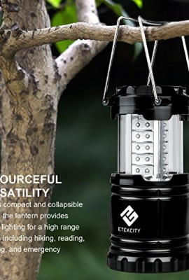 Etekcity-2-Pack-Portable-Outdoor-LED-Camping-Lantern-Flashlights-Black-Collapsible-0-0