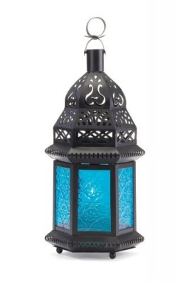 Gifts-Decor-Moroccan-Lantern-Blue-Glass-Candle-Holder-Candleholder-0