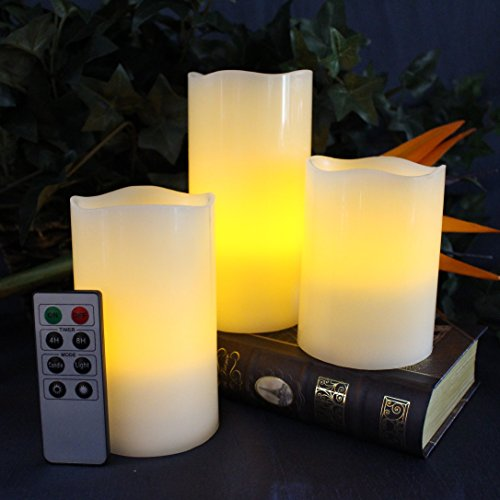 LED-Lytes-Battery-Operated-Flameless-Unscented-Ivory-Wax-Amber-Yellow-Flame-Candles-with-Remote-3-Pack-0-0