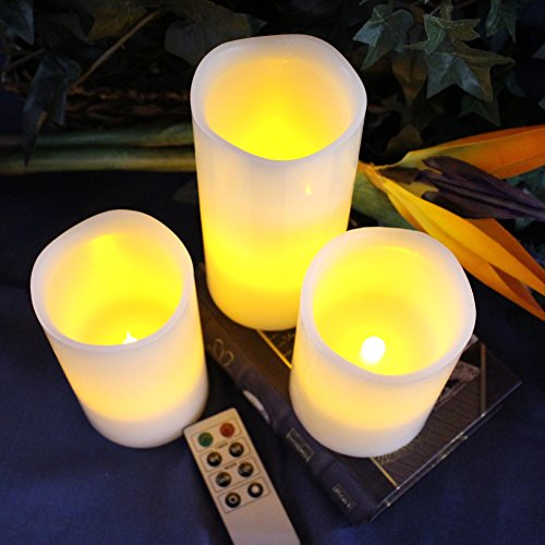 LED-Lytes-Battery-Operated-Flameless-Unscented-Ivory-Wax-Amber-Yellow-Flame-Candles-with-Remote-3-Pack-0-1