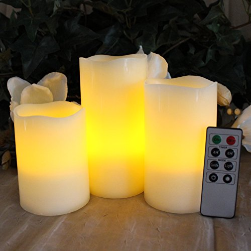 LED-Lytes-Battery-Operated-Flameless-Unscented-Ivory-Wax-Amber-Yellow-Flame-Candles-with-Remote-3-Pack-0-2