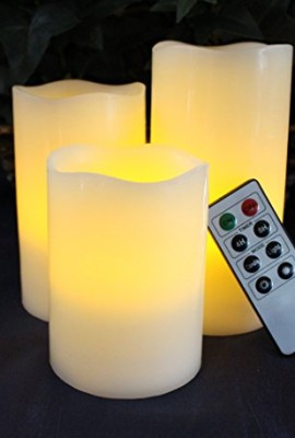LED-Lytes-Battery-Operated-Flameless-Unscented-Ivory-Wax-Amber-Yellow-Flame-Candles-with-Remote-3-Pack-0