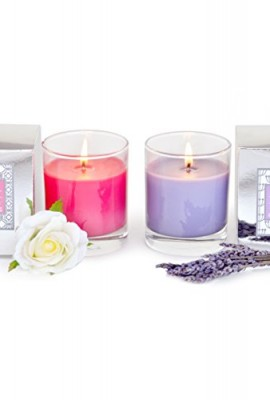 Manu-Home-CALM-Lavender-or-SERENE-Rose-Scented-Aromatherapy-Candle-in-Gift-Box-Made-with-Quality-Aromatherapy-Oils-Lavender-Candle-Great-for-Relaxation-Rose-Candle-Infused-with-Tuberose-to-Enhance-Flo-0