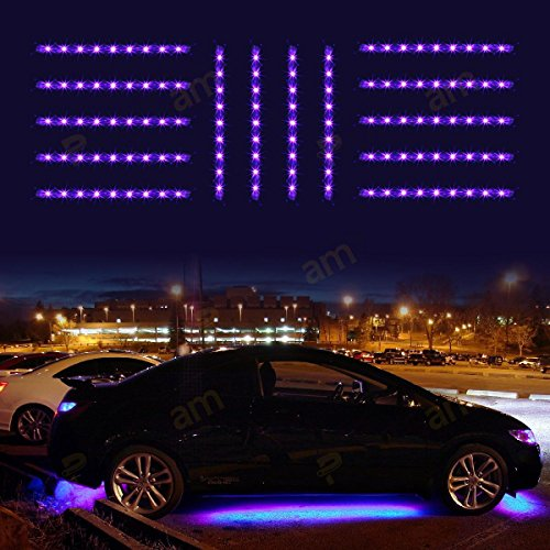 Partsam 126 Led 14pc Slim Strip Universal Car Neon Accent