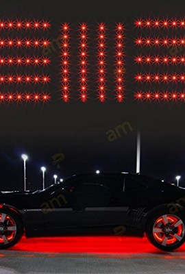 Partsam-14pcs-Red-126-Led-Slim-Strip-Universal-Car-Neon-Accent-Undercar-Glow-Lighting-0