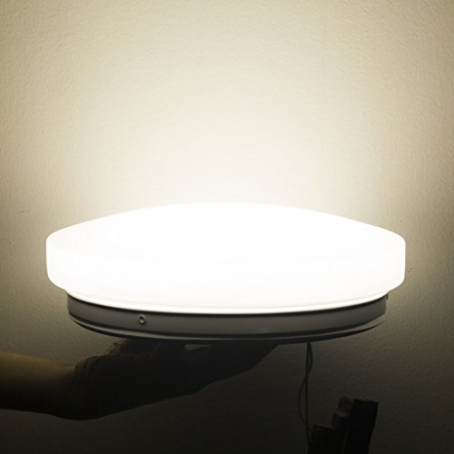 Smart-Green-Lighting-LED-Flush-Mount-Ceiling-Light-for-Living-Room-Bathroom-Bedroom-and-Dining-Room-4000k-Color-Temperature-Natrual-White-12w-Power-Lumious-Flux-9501100lm-CRI80-1pcsExactly-World-First-0-0