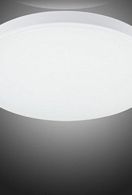 Smart-Green-Lighting-LED-Flush-Mount-Ceiling-Light-for-Living-Room-Bathroom-Bedroom-and-Dining-Room-4000k-Color-Temperature-Natrual-White-12w-Power-Lumious-Flux-9501100lm-CRI80-1pcsExactly-World-First-0