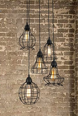 Unitary-Brand-Rustic-Barn-Metal-Chandelier-Max-200w-with-5-Lights-Black-Finish-0