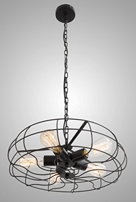 Unitary-Brand-Vintage-Barn-Metal-Hanging-Ceiling-Chandelier-Max-200W-With-5-Lights-Painted-Finish-0