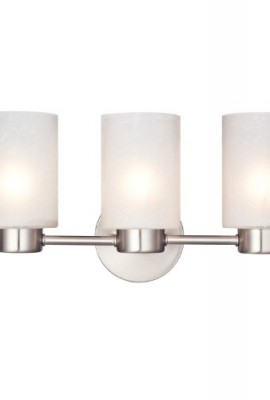 Westinghouse-6227900-Sylvestre-Three-Light-Interior-Wall-Fixture-Brushed-Nickel-Finish-with-Frosted-Seeded-Glass-0