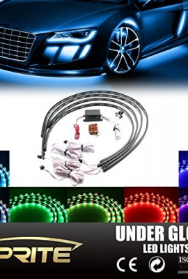 Xprite-7-Color-New-Version-5050-SMD-High-Intensity-LED-Car-Underglow-Underbody-System-Neon-Strip-Lights-Kit-48-x-2-and-36-x-2-wSound-Active-Function-and-Wireless-Remote-Control-0