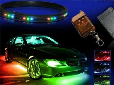 zhol 7 colors led undercar neon strip underglow underbody under car body glow light kit modern. Black Bedroom Furniture Sets. Home Design Ideas